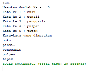 contoh program array java dengan perulangan for