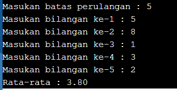 program pascal for to do menggunakan batas perulangan