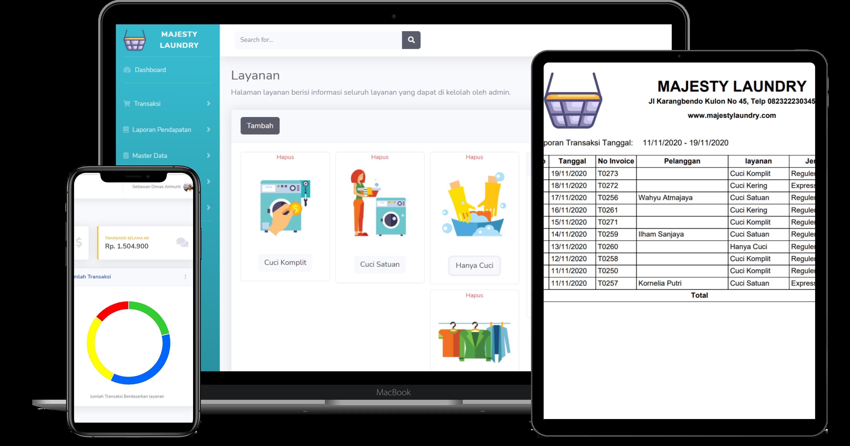 Aplikasi Laundry Berbasis Web Php Mysql Kelas Programmer