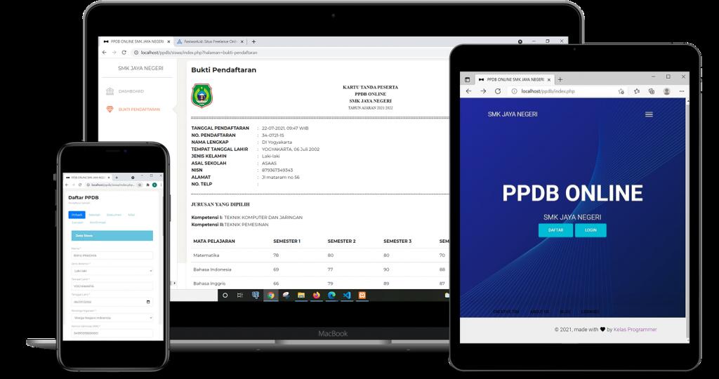 Aplikasi PPDB online berbasis web